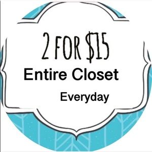 2/$15 Every Day ❤️